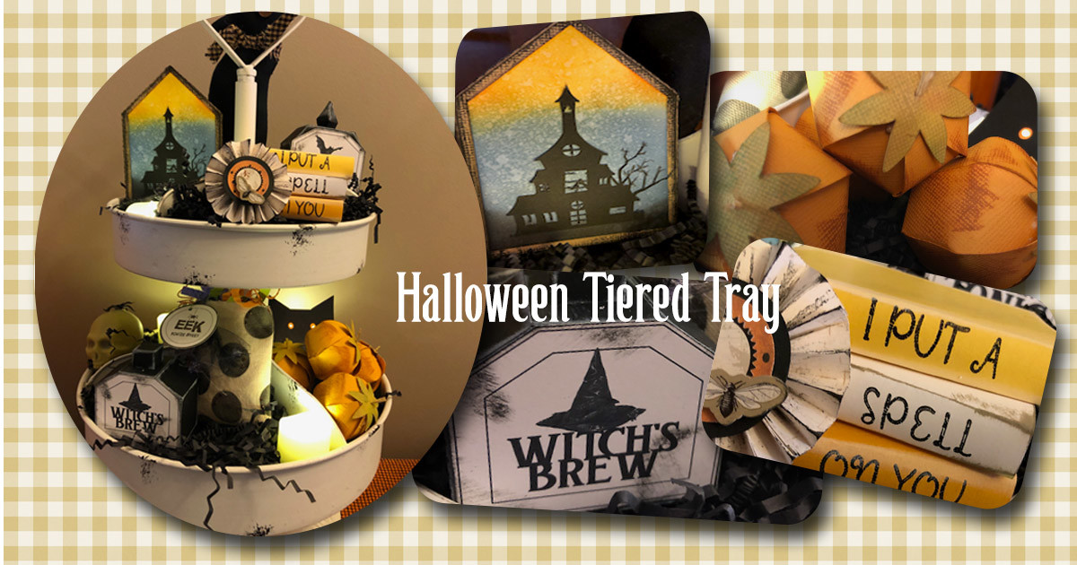 All Hallows Eve Tiered Tray