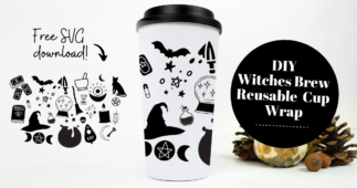 Make This Witchy Reusable Cup Wrap