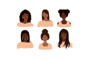Women of Color Faceless Portraits Beauty & Fashion Craft Cut File By Creative Fabrica Crafts