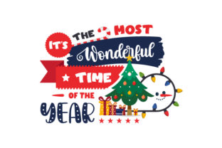 It's the Most Wonderful Time of the Year Christmas Craft Cut File By Creative Fabrica Crafts 1