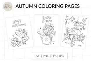 Autumn Coloring Page. Autumn Fall Forest Graphic Coloring Pages & Books By StudioSVG
