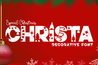 Print on Demand: Christa Decorative Font By airotype