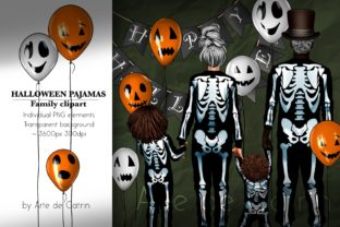 Halloween Pajamas, Family Clipart, PNG Graphic Illustrations By Arte de Catrin 1