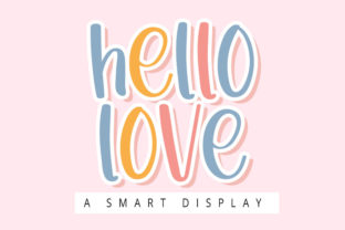 Print on Demand: Hello Love Display Font By ONE DESIGN