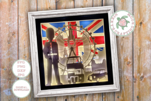 London 3d Shadow Box Template Graphic 3D Shadow Box By NikkysCraftingRoom