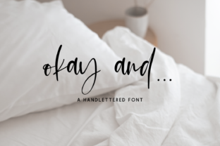 Print on Demand: Okay and Script & Handwritten Font By BeckMcCormick 1