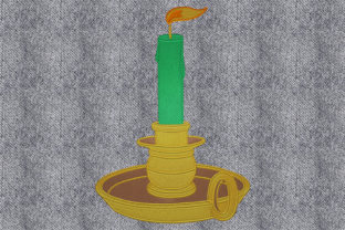 Print on Demand: Old Candle House & Home Embroidery Design By embroidery dp