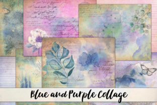 Print on Demand: Watercolor Junk Journal Collage Papers Graphic Backgrounds By Digital Attic Studio