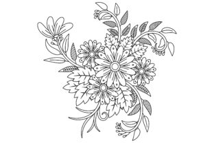 Adult Coloring Page in Doodle Style Graphic Coloring Pages & Books Adults By ekradesign