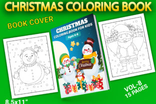 Print on Demand: Christmas Coloring Pages with Book Cover Graphic Coloring Pages & Books Kids By Simran Store