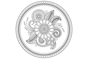 Circular Mandala Design for Doodle Style Graphic Coloring Pages & Books Adults By ekradesign