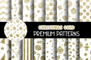 Print on Demand: Gold Foil Christmas Digital Papers Graphic Patterns By Grafixeo