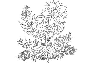 Mehndi Flower Pattern and Mandala Graphic Coloring Pages & Books Adults By ekradesign