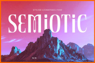 Print on Demand: Semiotic Display Font By letterhend