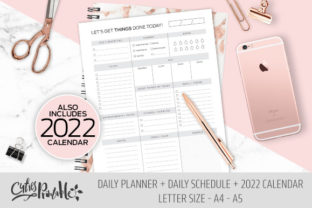 Print on Demand: Daily & Schedule, to Do List 2022 Graphic KDP Interiors By CutiesPrintable