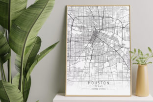 Print on Demand: Houston  -  Texas  US Gray City Map Graphic Photos By calendarstores