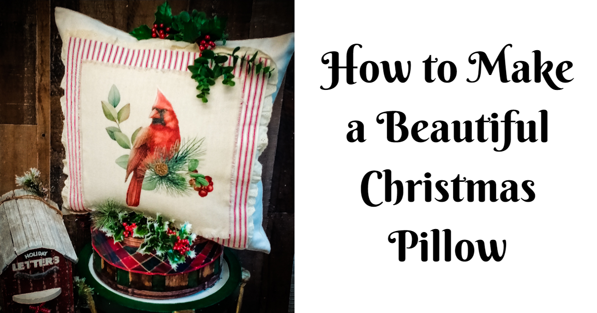 How to Make a Beautiful Christmas Pillow with Your Favorite Creative Fabrica Graphics main article image