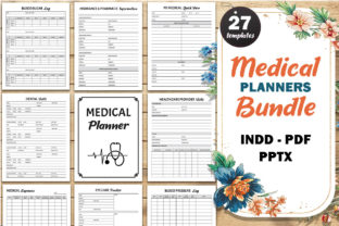 Print on Demand: Medical Planners Bundle KDP Template Graphic KDP Interiors By Fayne