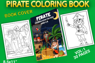 Print on Demand: Pirate Coloring Pages with Book Cover Graphic Coloring Pages & Books Kids By Simran Store