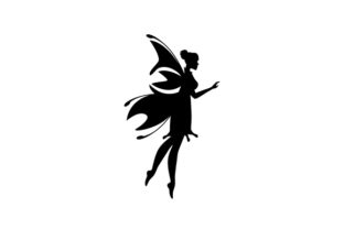 Fairy Silhouette Designs & Drawings Craft Cut File By Creative Fabrica Crafts