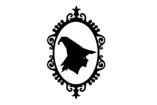 Witch Side Profile Cameo Halloween Craft Cut File By Creative Fabrica Crafts