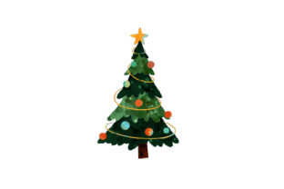 Watercolor Christmas Tree Christmas Craft Cut File By Creative Fabrica Crafts