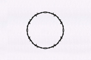 Barbed Wire Circle Borders Embroidery Design By StitchersCorp