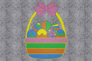 Print on Demand: Basket with Easter Eggs Easter Embroidery Design By embroidery dp