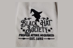 Black Hat Society Halloween Embroidery Design By Thread Treasures Embroidery
