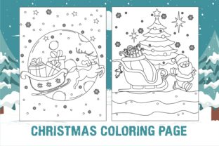 Print on Demand: Christmas Coloring Page Santa Sleigh Graphic KDP Interiors By edywiyonopp
