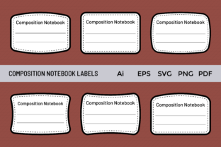Composition Notebook Labels Tags Graphic KDP Interiors By PranStudio
