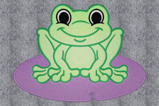 Print on Demand: Cute Frog Animals Embroidery Design By embroidery dp