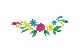 Floral Wreath Floral Wreaths Embroidery Design By Alistudio