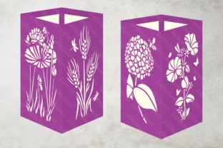 Flowers Lantern Template Graphic 3D SVG By LilMeStores