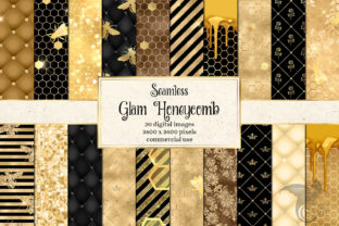 Print on Demand: Glam Honeycomb Digital Paper Graphic Textures By Digital Curio