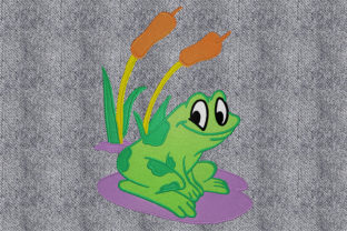 Print on Demand: Happy Frog Animals Embroidery Design By embroidery dp