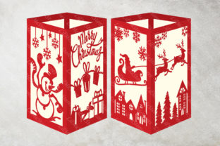 Merry Christmas Lantern Template Graphic 3D SVG By LilMeStores