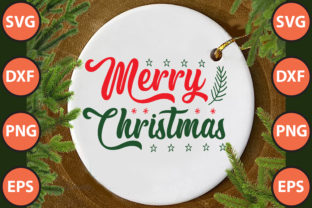 Print on Demand: Merry Christmas Svg Cut File Graphic Print Templates By hossainfabrica