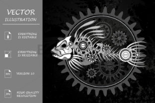 White Fish Skeleton Graphic Illustrations By Blackmoon9