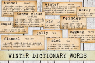 Print on Demand: Winter and Christmas Dictionary Words Graphic Objects By Digital Attic Studio