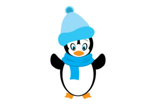 Penguin Dressed Up in Winter Clothes Animals Craft Cut File By Creative Fabrica Crafts
