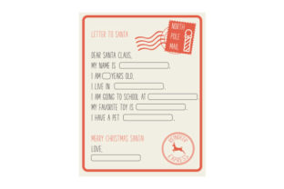 Personalisable Letter to Santa Christmas Craft Cut File By Creative Fabrica Crafts