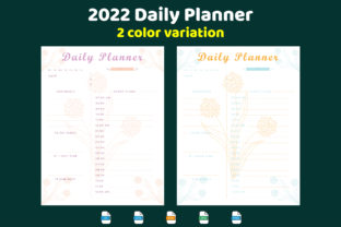 2022 Daily Planner Print Ready Best KDP Graphic KDP Interiors By Golam Kader Riad