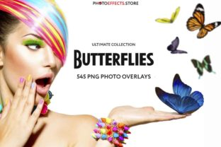 545+ Butterflies Photo Overlays Graphic Actions & Presets By PhotoEffects.Store