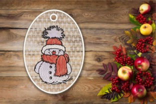 Print on Demand: Christmas Snowman FSL Christmas Embroidery Design By Embroidery Shelter