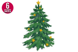 Print on Demand: Christmas Tree Christmas Embroidery Design By Nations Embroidery