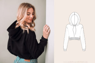 Cropped Hoodie Sewing Pattern Graphic Sewing Patterns By Make It Yours - The Label