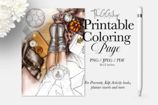 Print on Demand: FALL ADULT COLORING PAGE Graphic Coloring Pages & Books Adults By TheGGShop