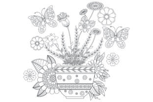 Flower Top Mandala Coloring Page. Graphic Coloring Pages & Books Adults By ekradesign
