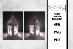 Haunted Forrest Lantern Templates Graphic 3D Houses By Beam Box Designs